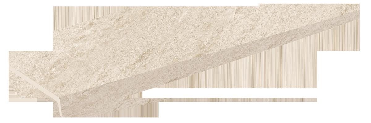 beige stone peldaño recto evo 1200
