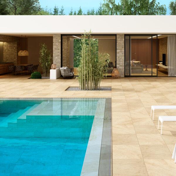 porcelanico piscinas beige stone