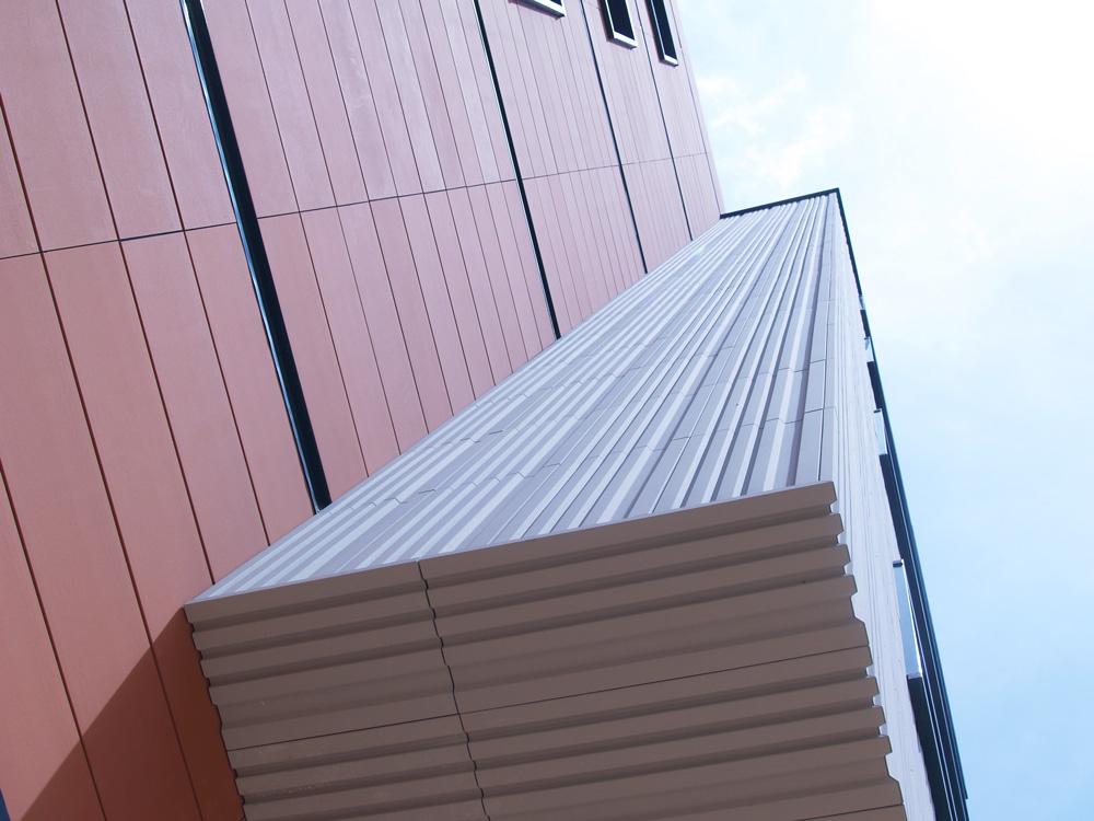 detalle fachada ventilada volumetrica