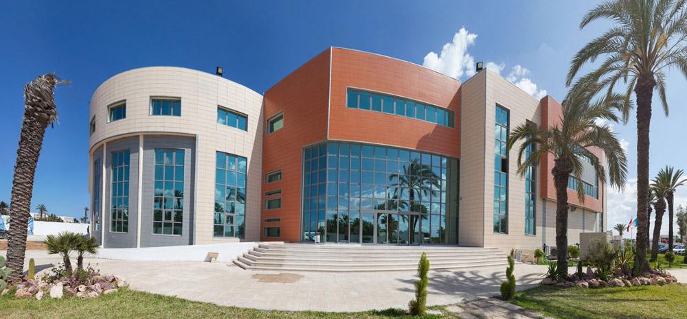 edificio de tunez con fachada ventilada ceramica