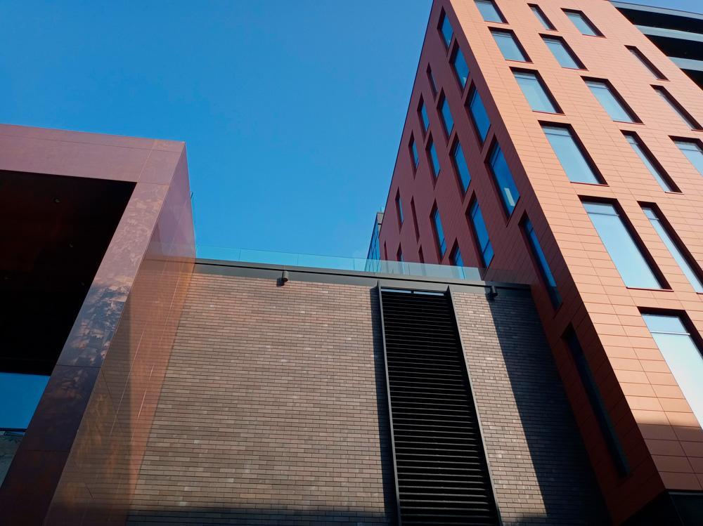 fachada ventilada terracota