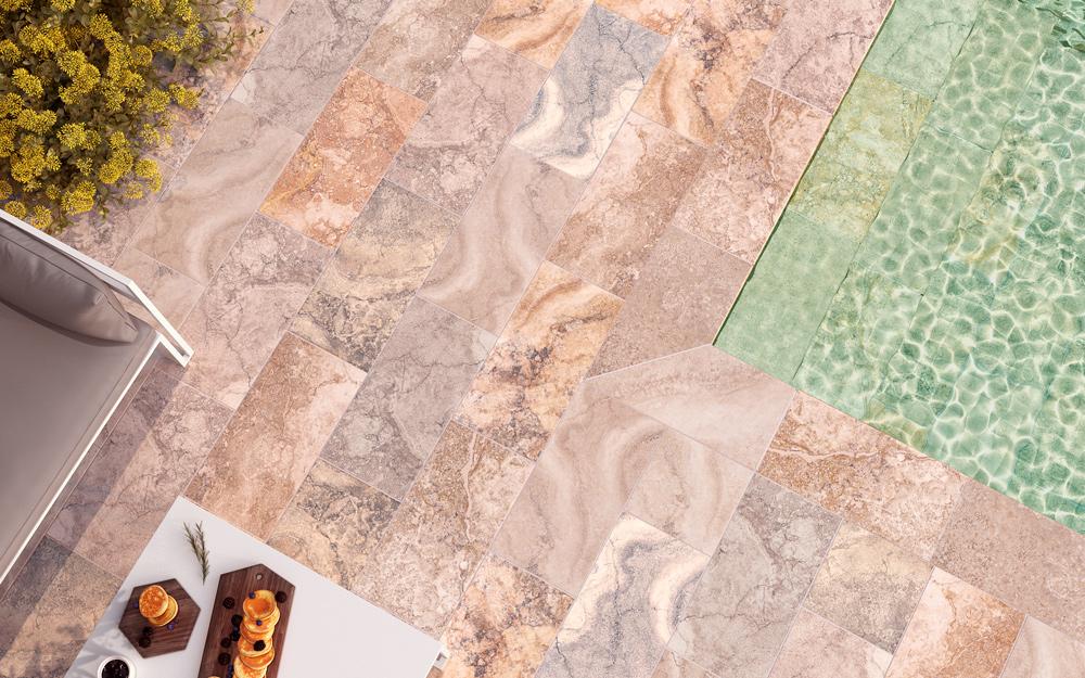 piscina de gres efecto piedra natural