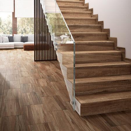 escalera gres madera taiga 1200