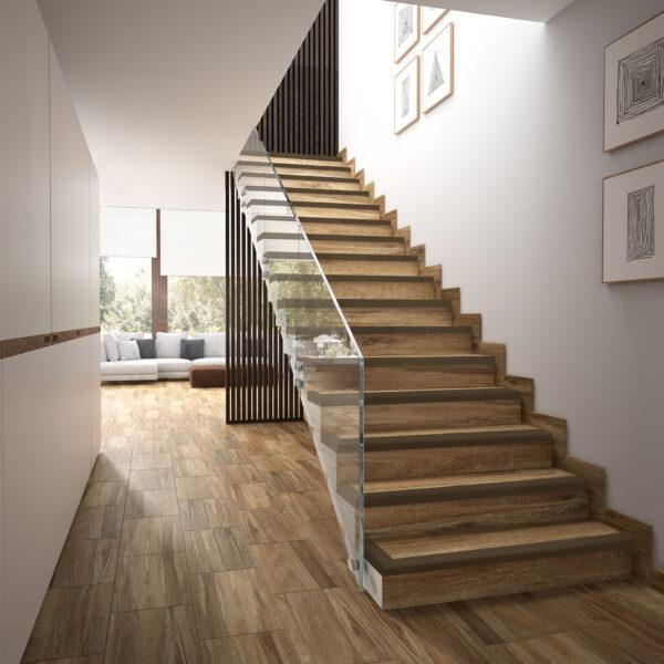 Grestep: Remate cerámico para escaleras Marrón gremanc